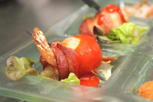 bacon-wrapped shrimp appetizer