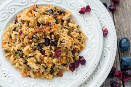 Wild rice cranberry dish