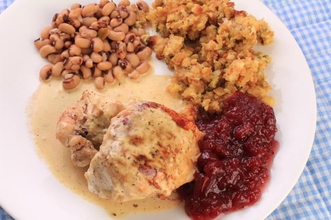 plated Chicken Dijon