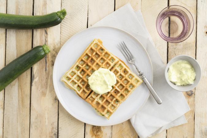Zucchini waffle