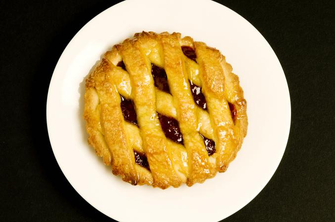 pie on a plate