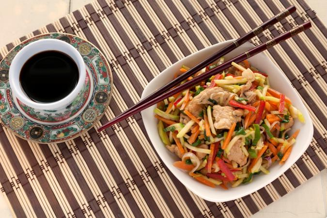 Chicken and Tri-Pepper Stir Fry
