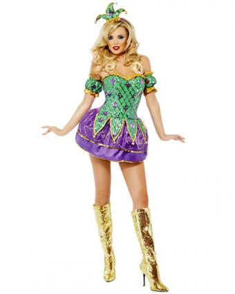 Sexy Harlequin Mardi Gras Costume from Costume Discounters
