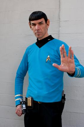 Star Trek Mr. Spock impersonator