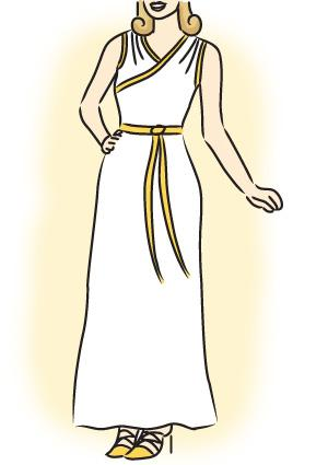 How to Make a Greek Goddess Costume 2