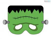 Printable Halloween Masks 2 Frankenstein Color
