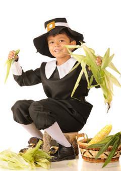 Boy in Pilgrim costume