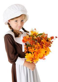 Girl wearing Pilgrim costume