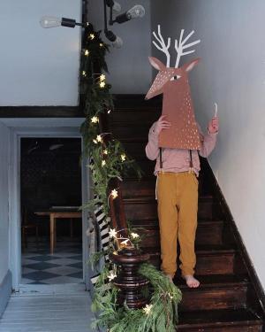 Reindeer head by mermagblog.com