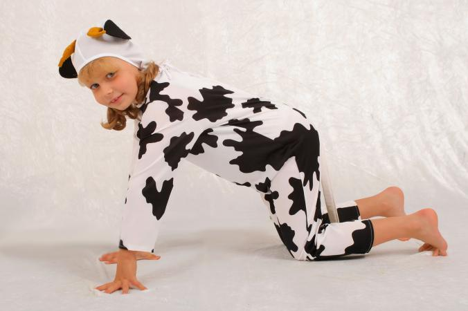 DIY cow costume