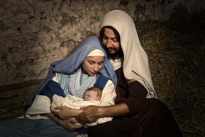 Baby Jesus in nativity scene