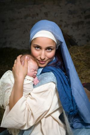 Mary with baby