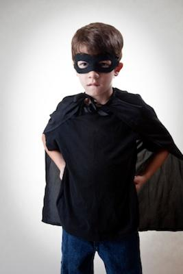 Young super hero costume