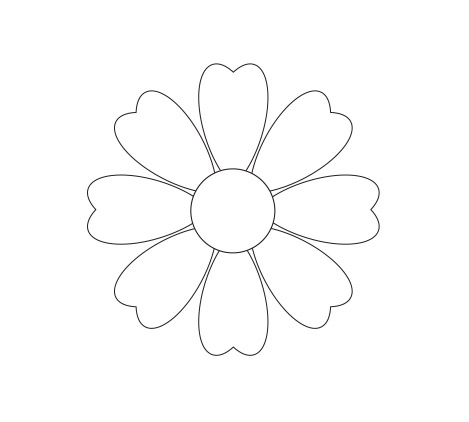 Outline Flower Stock Photos and Images