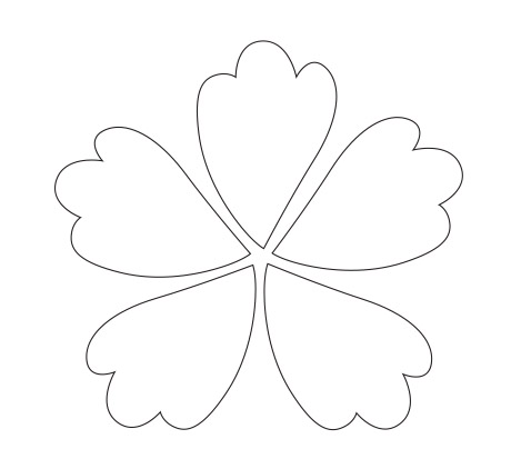 Flower Petal Clip Art Black and White