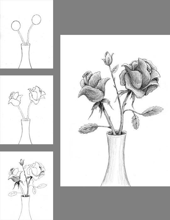 How to draw a rose lovetoknow slide 1 think about shapes ccuart Image collections