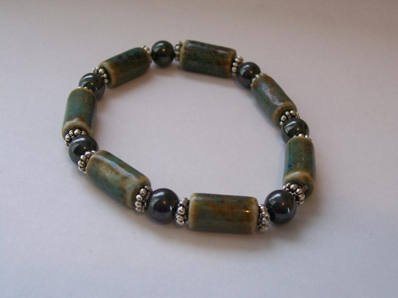 pottery bead bracelet - Beaded Bracelet Design Ideas