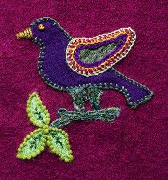 Attaching Appliques -- Learn How to Attach a Crocheted Applique to