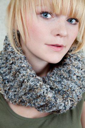 teen with scarf