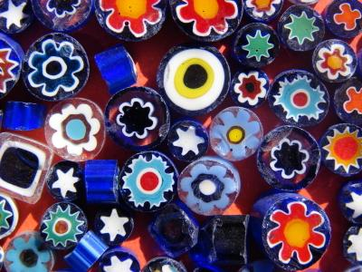 flowered polymer clay beads