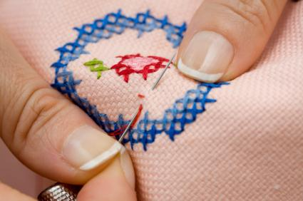 Decorative Patches With Cross Stitch
