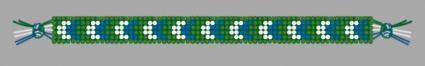 Bordered chevron friendship bracelet