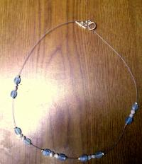 Floating bead necklace