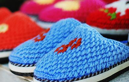 Crocheted Moccasin Slippers. | Flickr - Photo Sharing!