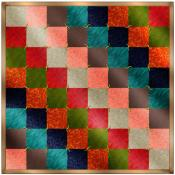 hand tied mini quilt