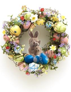 Photo Illustration of an Easter Wreath