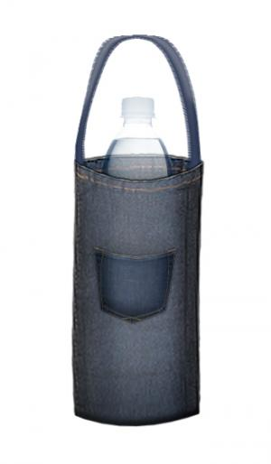 denim water bottle bag