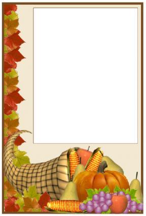 Thanksgiving photo card printable