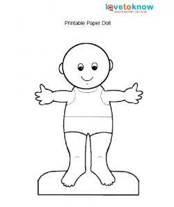baby paper doll