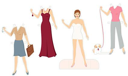 Printable Paper Dolls and Clothes