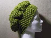 Crocheted honeycomb hat