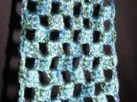 Crocheted checkered scarf