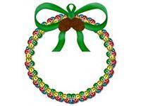 Jingle bell holiday door wreath