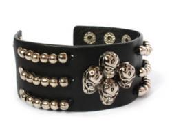 leather stud bracelet