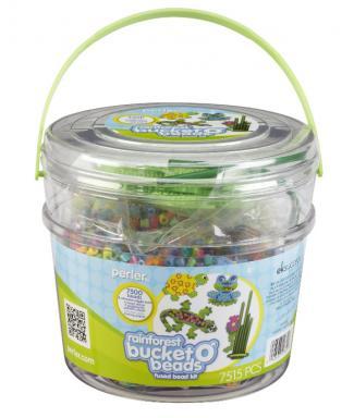 perler beads rain forest bucket