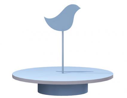 bird cake plate