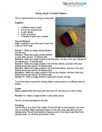 CROCHET HACKY SACK PATTERN - Crochet Club