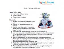 child's fleece hat instructions