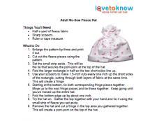 adult hat instructions