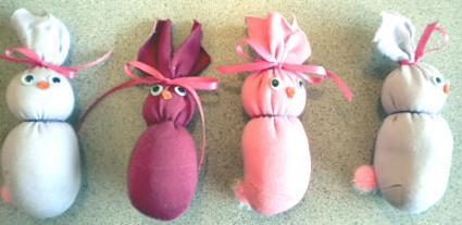 Bunny sock family
