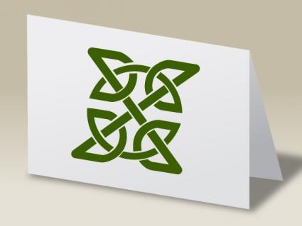 Celtic Knot notecard craft