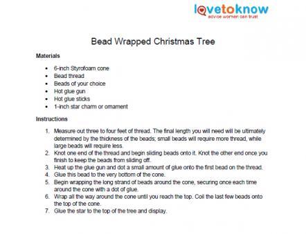 bead christmas tree ornament