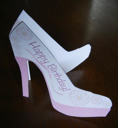 Free card making templates for High heel shoe template craft