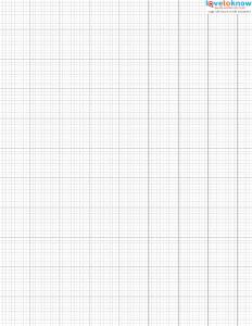 Cross Stitch Graph Paper