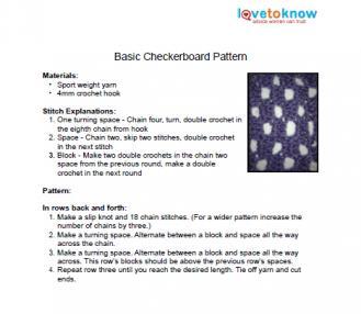 filet crochet checkerboard