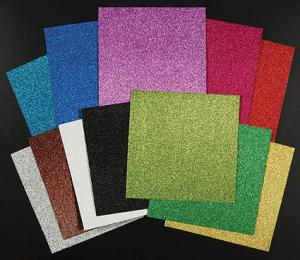 American Crafts Glitter Cardstock